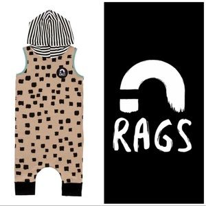 2t Rags to Raches hooded beige tank romper